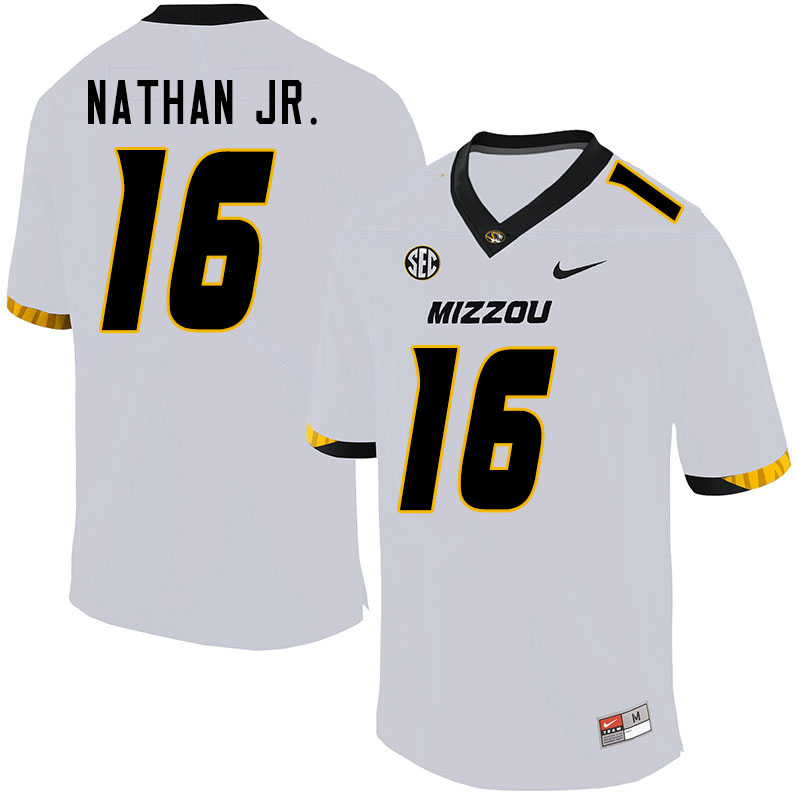 Men #16 Gerald Nathan Jr. Missouri Tigers College Football Jerseys Sale-White